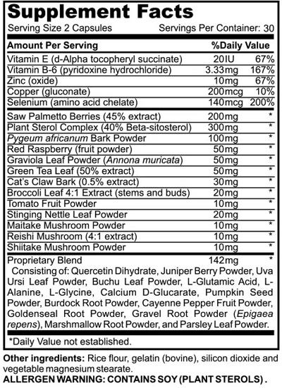 Prostate 911 Ingredients