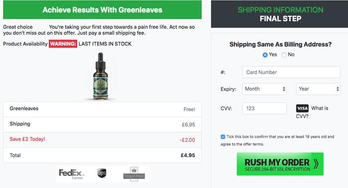 Green Leaves CBD Trial price uk