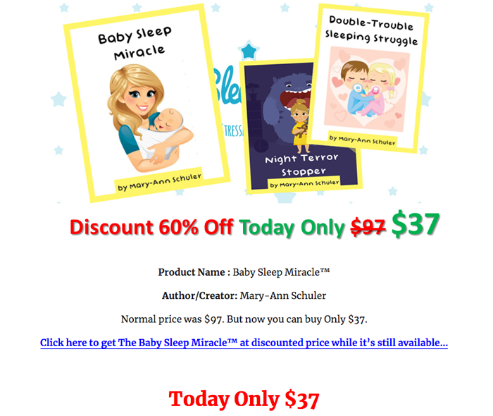 order  Baby Sleep Miracle PDF