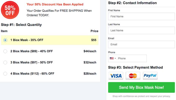 biox mask price