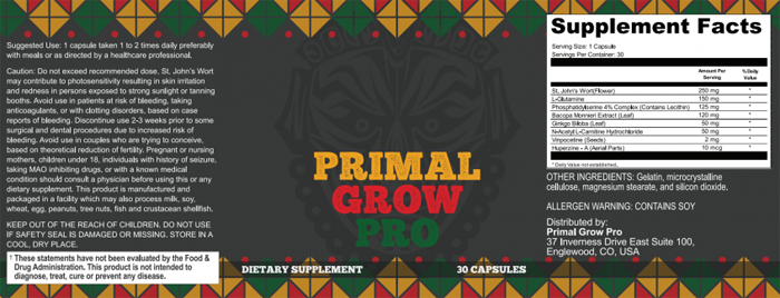 primal grow pro ingredients