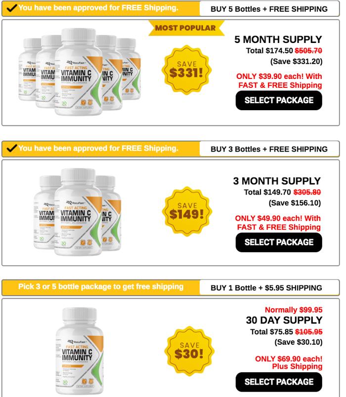 Rocufast Immune Booster Price