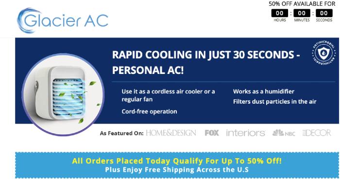 Order Glacier Portable AC